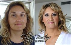 Another #beforeandafter by Olga Bustos #MakeupArtist in #Cabo. #LosCabos #makeup #hairstylish Contact me!