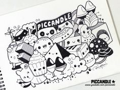 ~ Doodle [Video] by PicCandle on DeviantArt Kawaii Drawings, Doodle Drawings, Cute Drawings, Doodle Monster, Topazio Imperial, Pinterest Instagram, Facebook Instagram, Doodle Characters, Doodle Art Designs