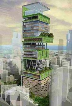 The first billion dollar house to ever be built. Actually 2 Billion dollars, 400,000 square feet, and 27 stories tall!