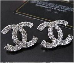 Classic Chanel earrings ~ because every woman needs classic chanel Women Big Size Clothes - http://amzn.to/2ix7dK5
