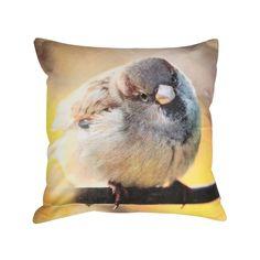 Putetrekk Spurv | Kremmerhuset #Kremmerhuset #Interior #Inspiration Owl, Throw Pillows, Bird, Animals, Cushions, Animales, Animaux, Owls, Decorative Pillows