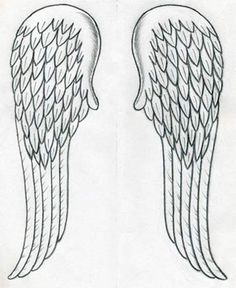 how to draw angel wings tutorial.