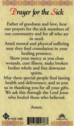 40 Best Prayer For The Sick Images My Prayer Prayer For The Sick