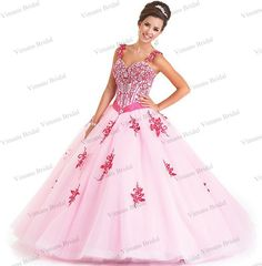3e16ef369ee Wedding Events · Larger · Find More Quinceanera Dresses Information about  Sweetheart Appliqued Beaded Lace Up Back Straps Ball Gown Quinceanera