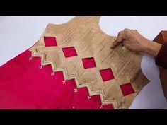 Latest Neck Design with stone and lace work // Best Neck Design – dressideas Chudithar Neck Designs, Neck Designs For Suits, Sleeves Designs For Dresses, Blouse Back Neck Designs, Neckline Designs, Fancy Blouse Designs, Kurta Designs, Salwar Neck Designs, Kurta Neck Design