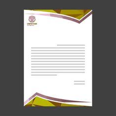Business letterhead Company Letterhead Template, Letterhead Design, Magazine Page Layouts, Letterhead Business, Page Layout Design, Business Fashion, Your Design, Letters, Templates