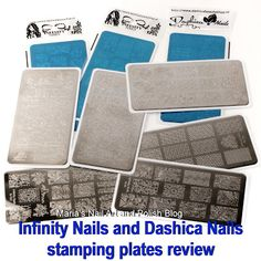 Infinity Nails and Dashica Nails stamping plate review