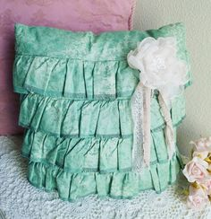 Check out this item in my Etsy shop https://www.etsy.com/listing/459941138/decorative-ruffle-pillow-with-handmade