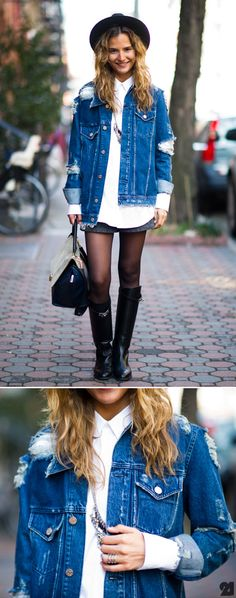 Comment dit-on 'trustfund hipster?' Acne jacket, Celine bag, Hermes boots, Gaia Repossi ring. Rawwwwwwr!