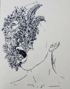 aesthetic, art, deep, flowers, girl, grunge, hipster, indie,