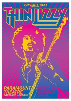 Thin Lizzy Concert Poster https://www.facebook.com/FromTheWaybackMachine
