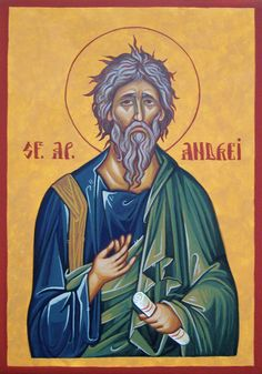 Andrew by Dimitru Ursu Roman Church, Ascended Masters, Orthodox Christianity, St Andrews, Orthodox Icons, Ikon, Catholic, Fictional Characters, Art