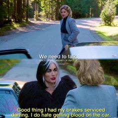 "#OnceUponATime 4x19 ""Sympathy for the De Vil"" - Maleficent and Cruella"