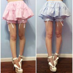 Apinko Design Grids Bloomer Pant-skirt kawaii fashion japanese gyaru hime kei
