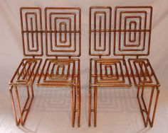 Copper-pipe furniture by TJ Volonis