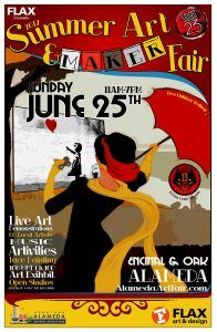 The 2017 Alameda Summer Art & Maker Fair  Free Outdoor Art Festival: Sunday June 25th 2017 11AM-7PM  Studio 23 2309 Encinal Ave. Alameda, CA  Come see over 65 local Alameda and Bay Area artists including myself, #CottonTurner, at this free Outdoor Art Festival. watch artists creating unique artwork during the  fair! See live painting, sketching, sculpting and illustration.  From comic book art to clothing and jewelry, to metal sculpture, there is something for everyone.