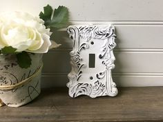 36 best shabby chic light switch and plug covers images ear plugs rh pinterest com