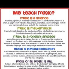 Why music education is important.