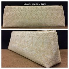 Cream Evening Standup RESERVED #mimpimatamoon #pouch #handcrafted in malaysia #madeinmalaysia