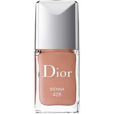 Dior Vernis Gel Shine & Long Wear Nail Lacquer ($27) ❤ liked on Polyvore featuring beauty products, nail care, nail polish, nails, beauty, makeup, cosmetics, sienna, gel nail care and shiny nail polish
