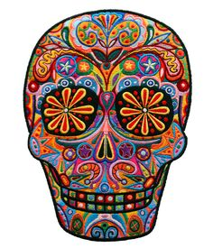 Sample I just love the colour and design in this sugar skull - its so beautiful! Will influence my future embroidered skulls.I just love the colour and design in this sugar skull - its so beautiful! Will influence my future embroidered skulls. Sugar Skull Design, Skull Tattoo Design, Tattoo Designs, Tattoo Ideas, Design Tattoos, Mexico Day Of The Dead, Day Of The Dead Skull, Sugar Scull, Sugar Skull Art