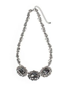 Black Carnation Necklace by JewelMint.com, $19.99
