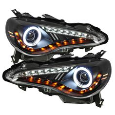 ( Spyder ) Scion FRS 12-14 Projector Headlights - CCFL Halo - DRL LED - Black These tail lights greatly enhance the look of your vehicle. Want to have a show car look? Or just something that satisfy y