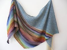 Ravelry: Diving in {recipe} pattern by Mam'zelle Flo When there's not enough of one yarn to make a shawl...