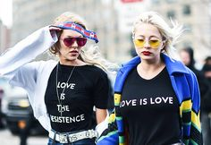 The strongest message at fashion week this season was political and powerful.