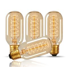 CTKcom 25 Watt Vintage Antique Light Bulbs Pack)- Antique Dimmable Incandescent Bulb Spiral Tungsten Equivalent Warm Yellow Lamps for Home Light Fixtures Decorative Amber Glass, Clear Glass, Antique Light Bulbs, Outdoor Light Bulbs, Incandescent Light Bulb, Edison Bulbs, Edison Lighting, Pendant Lighting, Retro Lamp