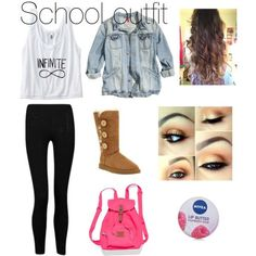 So adorable, I love this for fall fashion for school