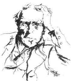 Ludwig Meidner, René Schickele, um 1912.