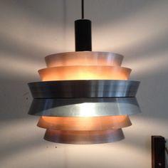 Hanging Lamp by Carl Thore for Granhaga Retro Design, Vintage Designs, Retro Vintage, Retro Lamp, Antique Lamps, State Art, Lamp Design, Scandinavian Design, Ceiling Lights