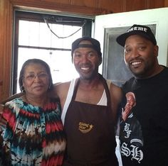 Bun B with mom and brother