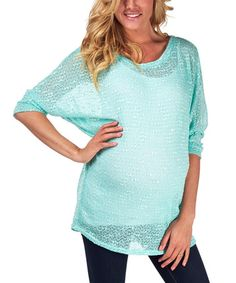Look what I found on #zulily! Mint Maternity Dolman Top by PinkBlush Maternity #zulilyfinds