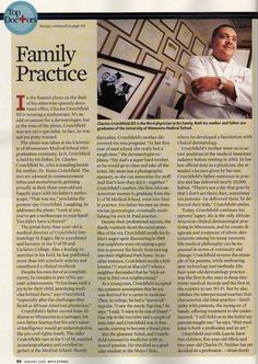 Dr. Crutchfield and Parents Featured in the Toc Doctors Issue of Minneapolis St. Paul Magazine 2006-2007