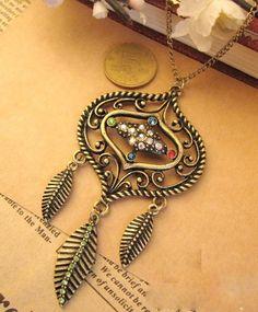 Vintage Tassel With Rhinestone Necklace  Love it!