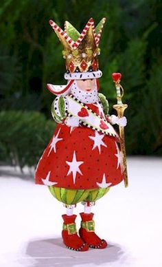 Patience Brewster Christmas Holiday King Of Hearts Ornament 08-30890