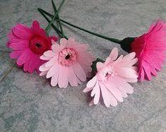 Gerbera paper flower - Làm hoa đồng tiền giấy nhún
