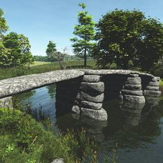 mint – Join the world of pin Bridge Builder, Old Bridges, Over The Bridge, Bridge Design, Covered Bridges, Belle Photo, Medieval, Beautiful Places, Scenery