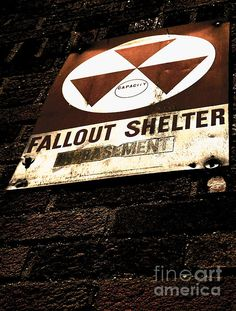 An old, and mostly forgotten sign, reminds us of a tense and stressful time where the threat of nuclear war was imminent as it basks in the heated glow of the sun's gamma rays. #apocalypse #apocalyptic #nuclearwar