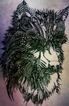 Whiterfang the dread wolf Drawing pen on paper