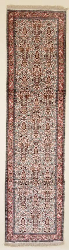 Teppiche  Moderno Tappeto Alfombra Seidenteppich Kaschmir Seide 290 x 80 cm  Rug
