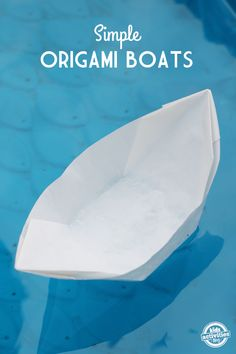 How to make a paper origami boat. You can even use this to hold snacks!