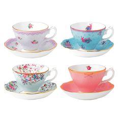 Royal Albert - Candy Collection Teacup & Saucer Set 8pce   Peter's of Kensington
