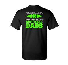 ADULT t-shirt - Softball Dad Shirt - Softball Parent Shirt by ByDesignVinyl on Etsy