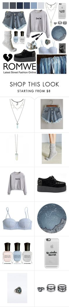 """""""My Modern Grunge Style"""" by rockiesleppie ❤ liked on Polyvore featuring Urban Outfitters, WithChic, J.Crew, Deborah Lippmann, Casetify, LULUS, modern, Blue, ROMWECONTEST and lightblueshorts"""