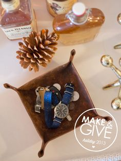 DIY Leather Key Basket | Lovely Indeed - this seems like a good project for justin or @Margaux