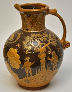 John Pollex- large harvest jug in 16th century style.