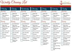 Weekly and Monthly Cleaning Schedule FREE Printable | Help keep your house clean and organized with this great printable!
